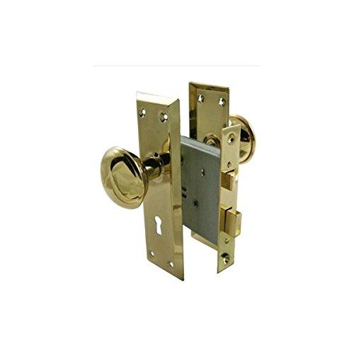 Ultra Hardware 20501405 Skeleton Key Mortise Lock Polished Brass