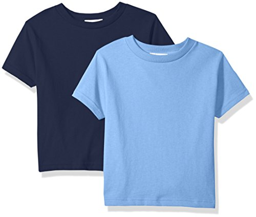 - Clementine Baby Girls' Little Boys' Everyday Toddler T-Shirts Crew 2-Pack,Navy/Carolina Blue, 3T