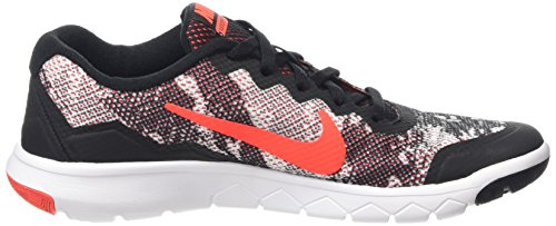 Nike Flex Experience 4 Print (GS) - Zapatillas para niño Black/Bright Crimson-White