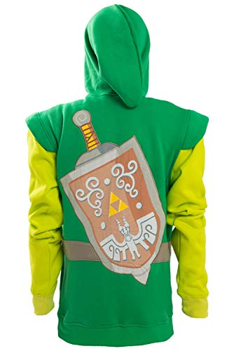 Hibuyer Men's Link Hyrule Zip up Hoodie Sweatshirt