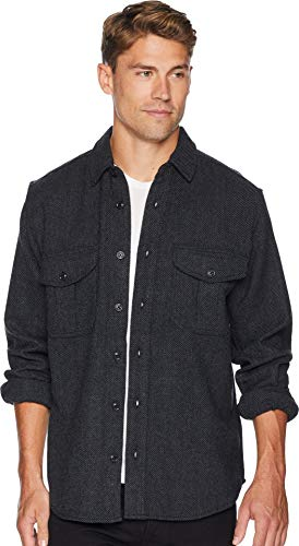 Filson Men's Northwest Wool Shirt Charcoal XXX-Large