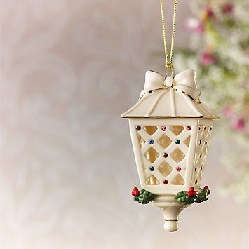 - Lenox Holiday Gems Lantern Ornament 2012 New