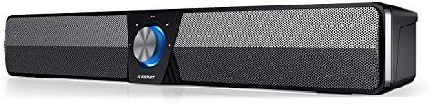 ELEGIANT Haut-parleurs PC, 20W Barre de Son Bluetooth 5.0, Enceintes TV Portable Filaires et sans Fil avec Son Stéréo...