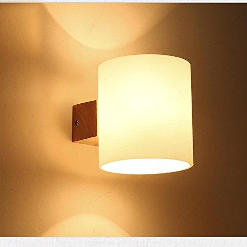 YM@YG Einfache und moderne Lampe im europäischen Stil Wand Schlafzimmer Restaurant Bar Bekleidungsgeschäft Wandleuchte Massivem Holz Schlafzimmer Nachttischlampe , single head