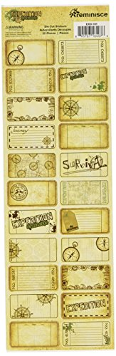 Reminisce Expedition Destination Scrapbook Tickets and Tags Sticker