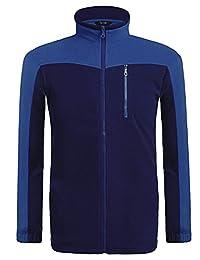COOFANDY Men's Fleece Jacket Full Zip Soft Solid Basic Outdoor Coat