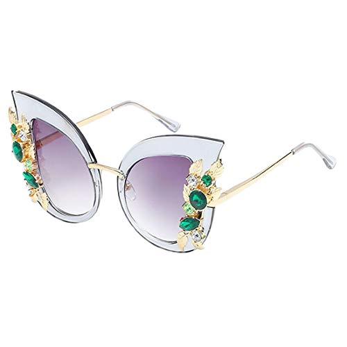 de diamant soleil soleil monture Monture mode tendance femme soleil de à en Yeux de pour chat Lunettes Yj07 Lunettes ZCFX Lunettes de Efzq0g