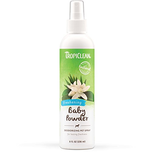 TropiClean Baby Powder Deodorizing Pet Spray, 8oz