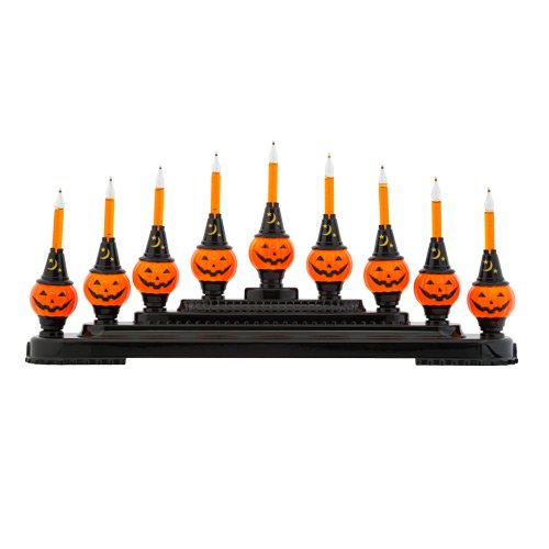 Halloween Bubble Bright Pumpkin Light Candolier by Christopher Radko]()