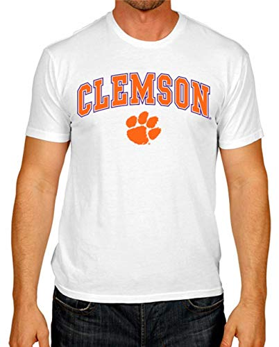 Campus Colors Clemson Tigers Arch & Logo Gameday T-Shirt - White, Medium