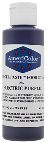 Americolor Soft Gel Paste Electric Food Coloring 4.5 oz. - Electric Purple