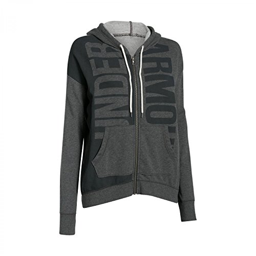 Under Armour Women's Favorite French Terry Full Zip (X-Large, Carbon Heather-Black)
