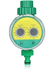 Honeytecs Outdoor Timed Irrigation Controller Automatic Sprinkler Controller Programmable Valve Hose Water Timer Faucet Watering Timer for Home Garden Farmland