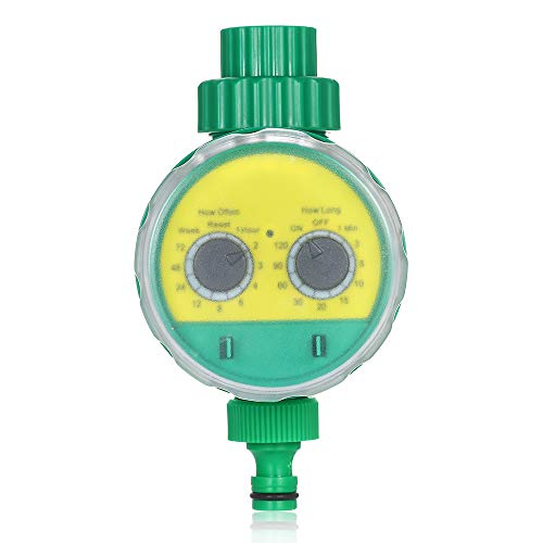 Leepesx Outdoor Timed Irrigation Controller Automatic Sprinkler Controller Programmable Valve Hose Water Timer Faucet Watering Timer for Home Garden Farmland