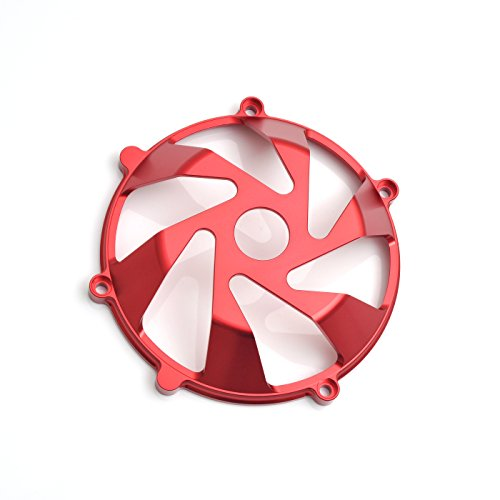 - CNC Billet Red Open Dry Clutch Cover For Ducati Hypermotard 1100 EVO M900 Monster 1000