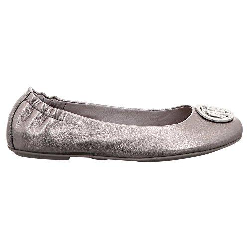 Hilfiger Damer C1285laudia 8d Lukket Sølv Ballerinaer QMZ3NEgBVc