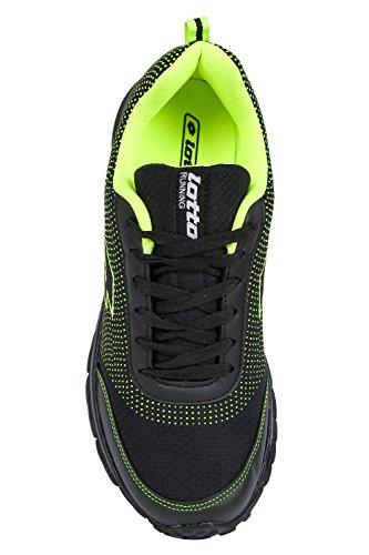 Lotto Men Splash Black/Lime Shoes 9