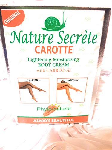 (Nature Secréte Lightening Moisturizing Body CREAM with Carrot Oil 300 g )