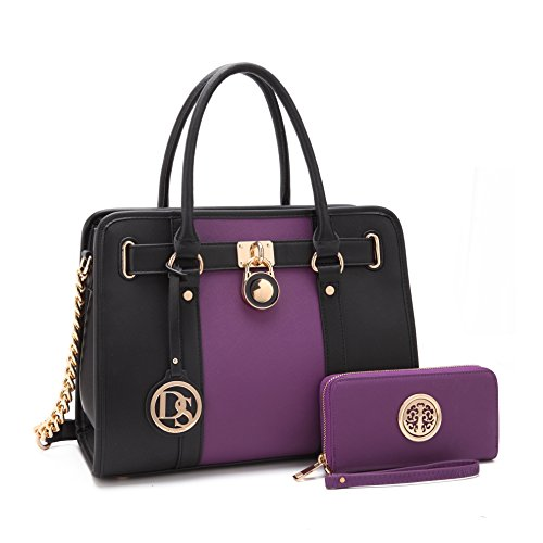 Purple Satchel Handbag - 7