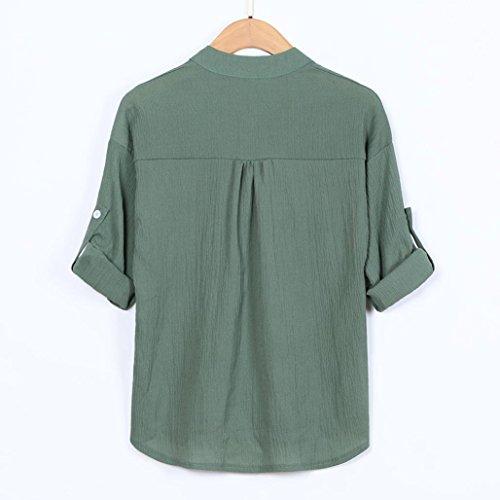Femme Beikoard Casual Debardeur Femme Sweat Yoga Manche T Longues Shirt Shirt Tee Blouse Chemisier Femme T de Manteau Lâche Femme Shirt Femme Sport Vert Tops qvtxatf