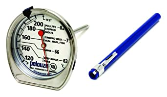 Rubbermaid Commercial FGTHM200DS Pelouze Stainless Steel Dishwasher Safe Meat Thermometer