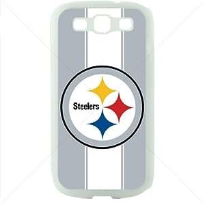 NFL American football Pittsburgh Steelers Samsung Galaxy S3 SIII I9300 TPU Soft Black or White case (White)