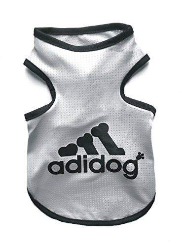 Rdc Pet Adidog Dog T Shirt, Dog Shirts, Dog Clothes Summer Tank Top Vest from S to 9X-Large for Small dog, Medium Dog, Large Dog (Grey, -