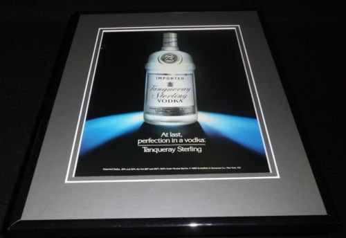 1990 Tanqueray Sterling Vodka Framed 11x14 ORIGINAL ()