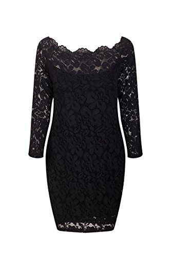 Quality Edition Europe and The United States Women's Long-Sleeved Lace Dress A Large Number of (70's Disco Shoes Womens)