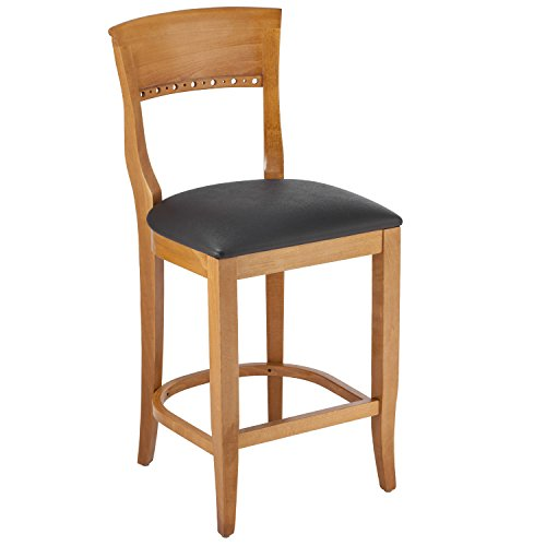 Beechwood Mountain BSD-6B24-C Solid Beech Wood Counter Stool in Cherry for Kitchen and dining