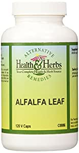 Alternative Health & Herbs Remedies Alfalfa Leaf Capsules, 120-Count Bottle