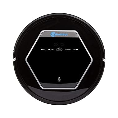 Rollibot Robot Vacuum Cleaner with UV Sterilization, Automatic Recharging and Auto-Detection, Black