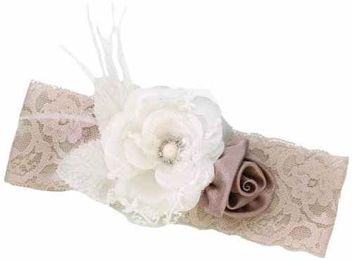 Lillian Rose Vintage Lace Taupe Tan Prom Wedding Garter