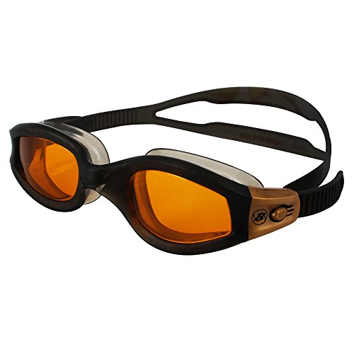 Barracuda Swim Goggle AQUATEMPO - Curved Lenses, Anti-Fog UV Protection, Easy Adjustment, One-piece Frame Soft seals, No leaking Comfortable Fit for Adults Men Women #12220