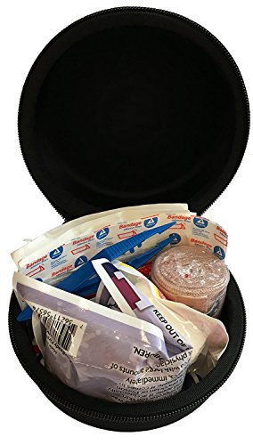 25 Piece First Aid Complete Kit - Heavy Duty EVA Foam Zippered Case for Medical Supplies for Travel, Car or Automotive, Office, Home, School, Emergency, Survival, Camping, Hunting and Sports by StatGear (Image #1)