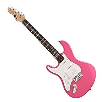Guitarra Eléctrica LA Zurda de Gear4music Rosa: Amazon.es: Instrumentos musicales