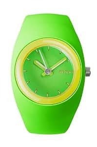 IoIon  BU-GRF26 - Reloj de cuarzo unisex, con correa de silicona, color verde