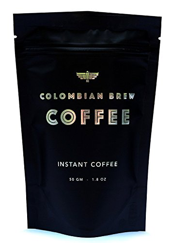 Instant Coffee 25 servings - 100% Arabica Bean Coffee 50 gm (1.8 Ounce) - Colombian Brew