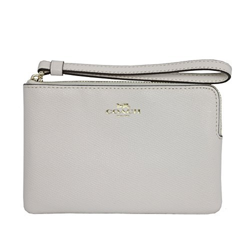 Coach-Crossgrain-Leather-Corner-Zip-Wristlet