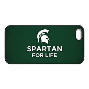 Apple iPhone5,5s Custom American NCAA Michigan State Spartan Football Team Logo Printed Hard Plastic Case Protector Snap On