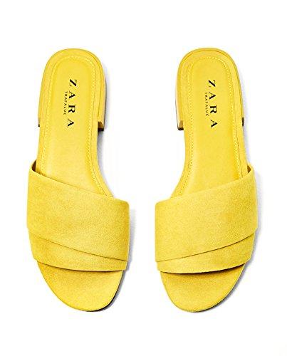 Zara Femme Chaussures type claquettes monochromes 3680/201 (35 EU   5 US   2 UK)
