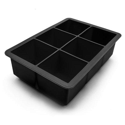 Large Ice Cube Trays - Black Whiskey Ice Stones