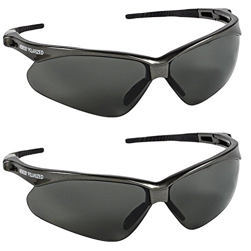 Jackson Safety V30 28635 Nemesis Polarized Safety Glasses (2 Pair) (Gun Metal Frame with Polarized Smoke Lens)
