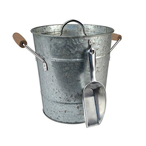 Artland Masonware Ice Bucket With Scoop Galvanized Metal