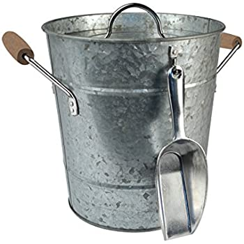 Artland Oasis Ice Bucket with Scoop, Galvanized, Metal