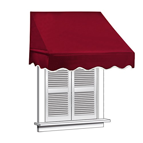 ALEKO 8x2 Burgundy Window Awning Door Canopy 8-Foot Decorator Awning (Canopy Window Awning)