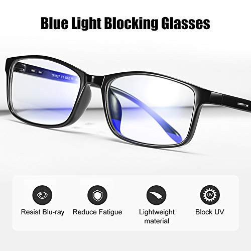 Blue Light Blocking Glasses,Computer Reading Glasses, Blue Light Filter, UV Digital Eye Strain Anti-Blue Light Lenses…