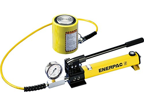 (Enerpac SCL-201H Single Acting Cylinder Pump Set RCS-201 Cylinder with P-392 Hand Pump)