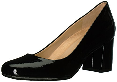 Naturalizer Women's Whitney Dress Pump, Black Patent Leather, 10 2W US