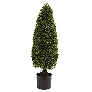 Nearly Natural 3 ft. Boxwood Tower Topiary 8